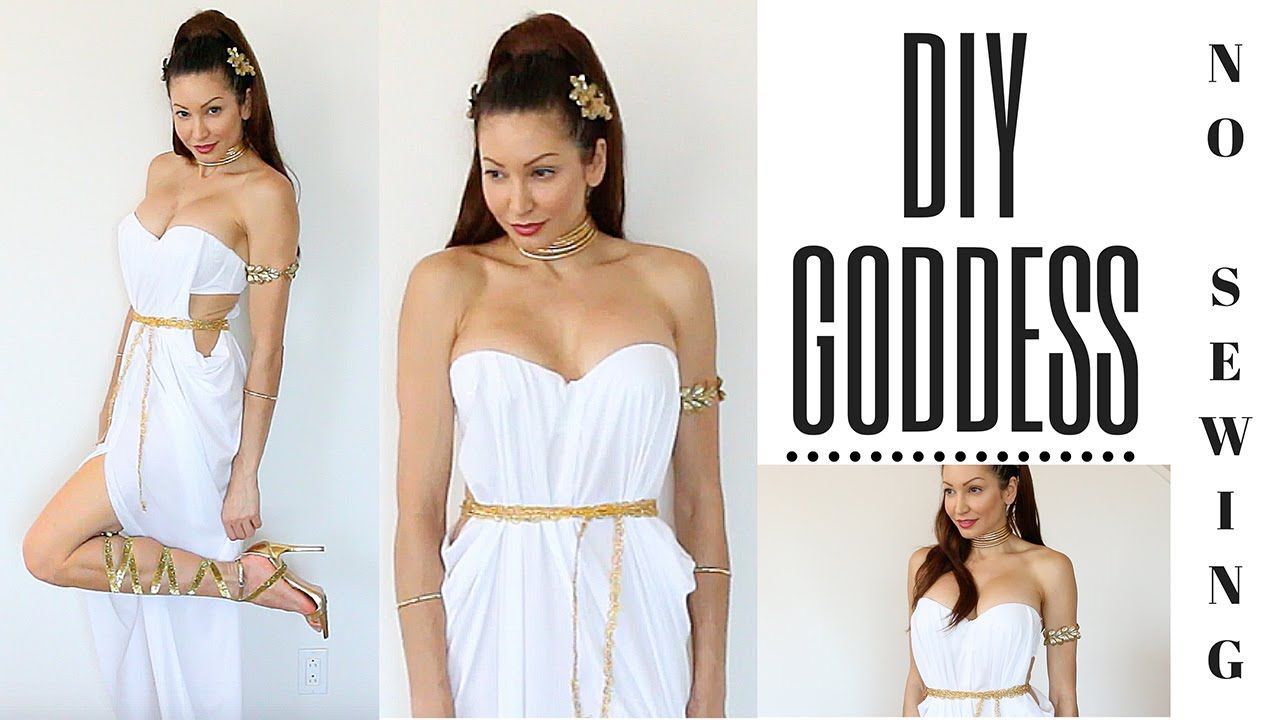 DIY Greek Goddess Costume-EASY NO SEWING!!!! | women wear ...
