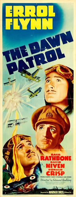The Dawn Patrol Insert De Estados Unidos La Escuadrilla Del Amanecer El Escuadrón De La Carteles De Cine Carteles De Película Antiguos Películas Del Oeste
