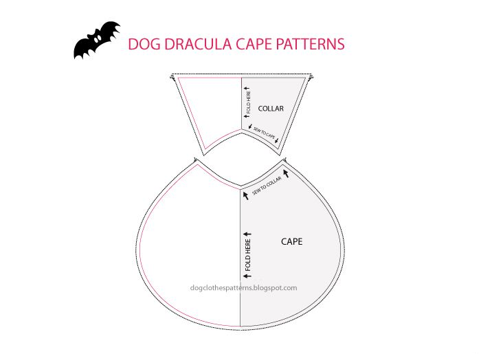 Free Dog Clothes Patterns Count Dracula Dog Cape Patterns Pets Gorgeous Free Dog Clothes Patterns
