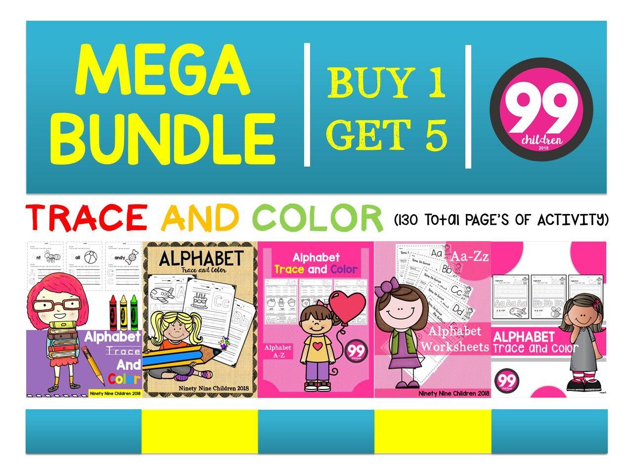 Mega Bundle Trace And Color By Ninetynine Children