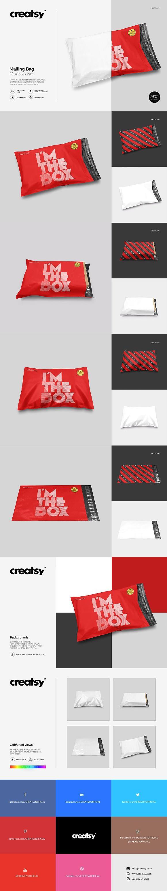 Download Mailing Bag Mockup Set Product Mockups Bag Mockup Mockup Creative Market