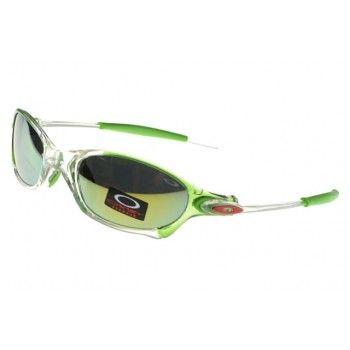 Cheap Oakley Juliet Sunglasses crystal green-clear frames yellow-blue  Iridium…