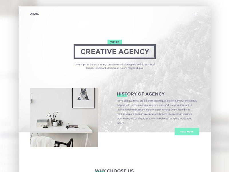 Akad html website template for agencies mockupcatalog free website akad html website template reheart Gallery