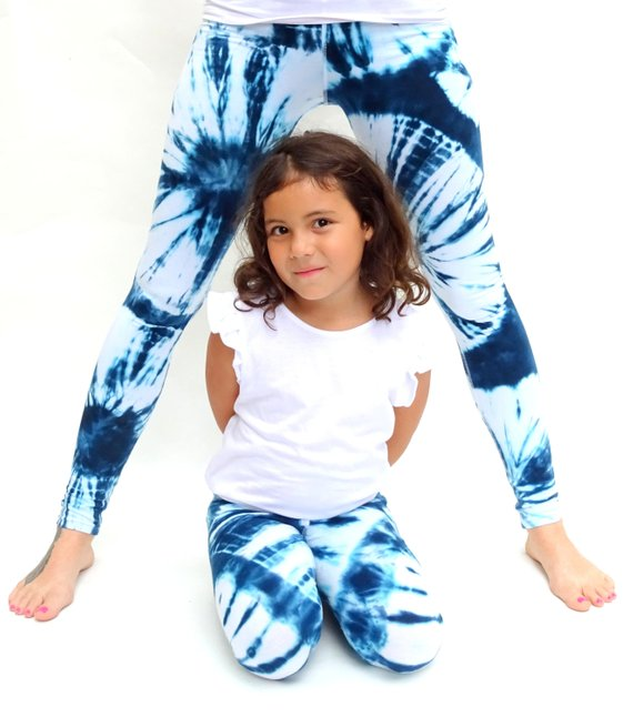Amazing Christmas Gifts For Her: Tie Dye Leggings,mommy And Me Leggings,mommy And Me