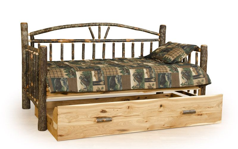 Rustic Log Trundle Bed Cabin Furniture Furniture Rustic Furniture