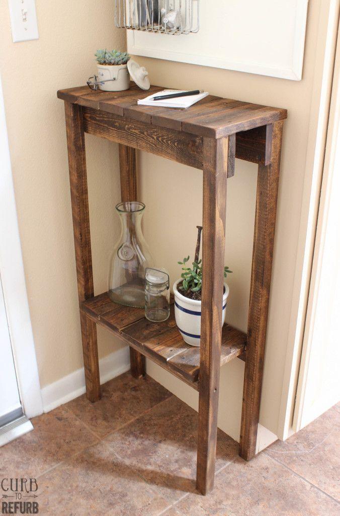 DIY Pallet Table - CURB TO REFURB