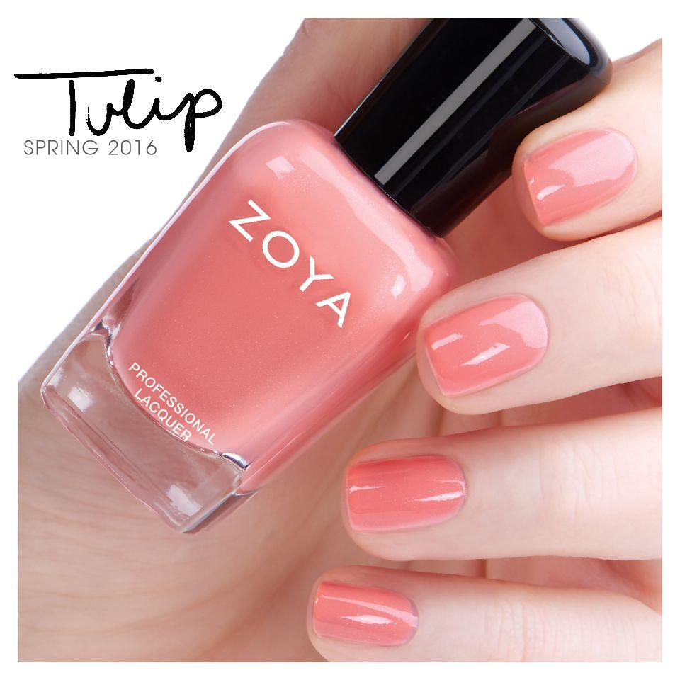 Zoya Tulip - Petals | Spring Nail Polish | Pinterest | Zoya nail ...