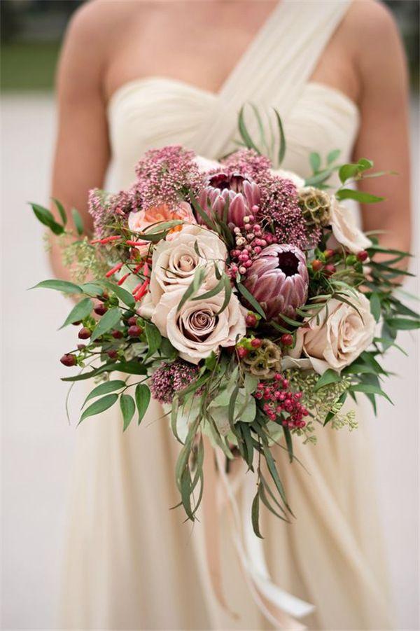 22 Tropical King Protea Wedding Bouquets Ideas | Protea ...