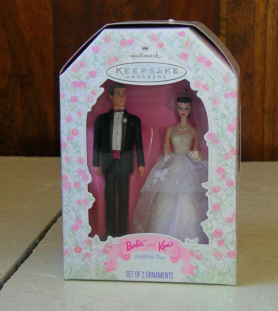 Hallmark Barbie And Ken Wedding Tree Ornamentcake Topper Etsy In 2020 Christmas Barbie Hallmark Disney Ornaments Barbie And Ken