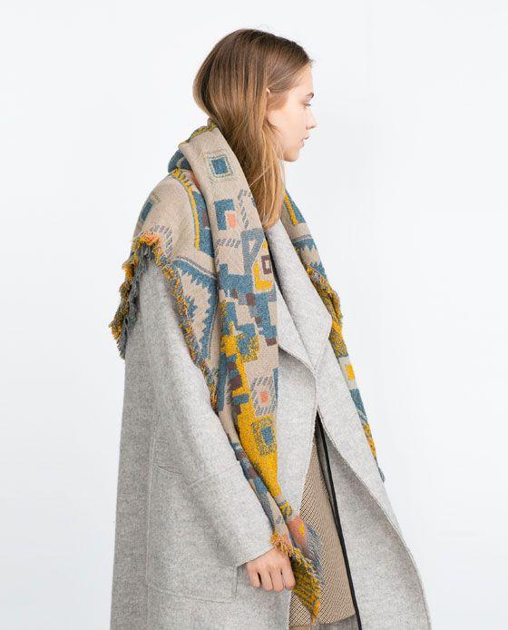 5b4e15ec52a8 Image 4 de FOULARD À IMPRIMÉ GÉOMÉTRIQUE de Zara   Fashion ...
