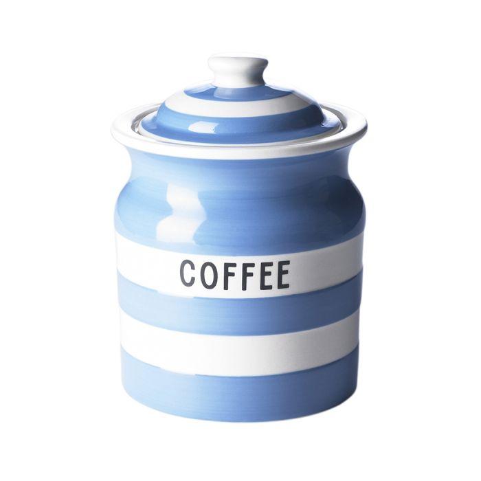 Coffee Storage Jar 84cl Cornishware Classic British Kitchenware By T G Green Tea Storage Jar Storage Cornishware