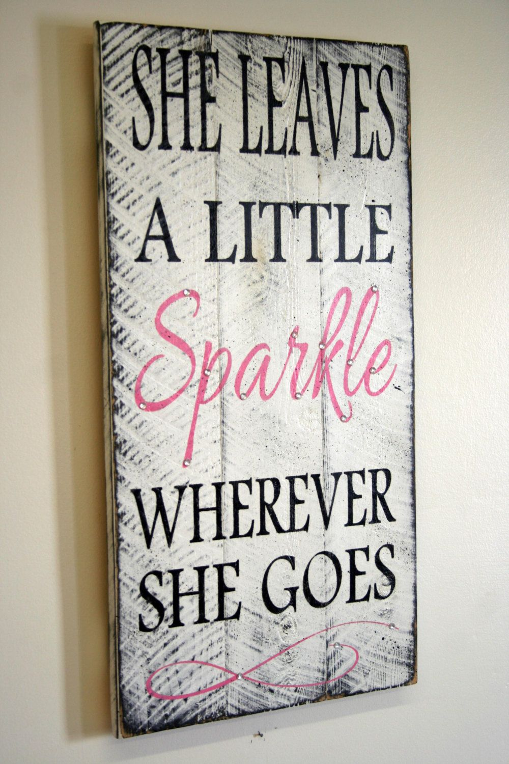 She leaves a little sparkle wherever she goes by rusticlyinspired