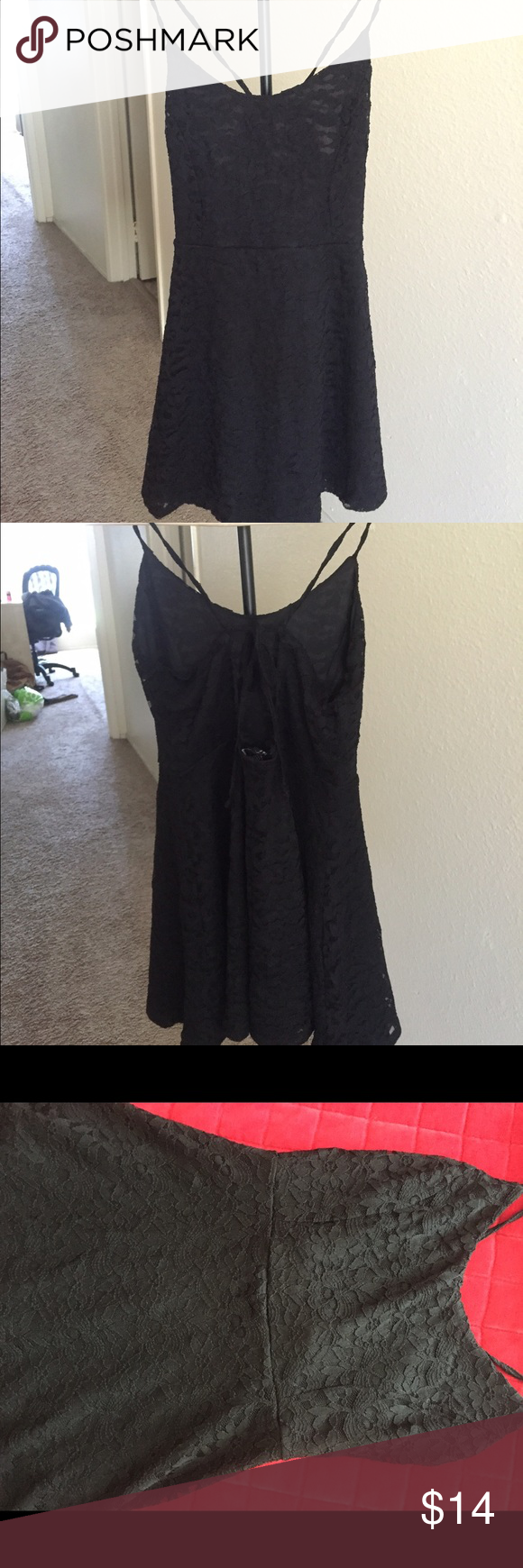 "Little black dress from forever 21! NEVER WORN! 100% new, cut off the tags so can't be returned! Size M but fits an S (I'm 6'3"" and usually a size XS/S but it fits me perfectly) Dresses Mini"