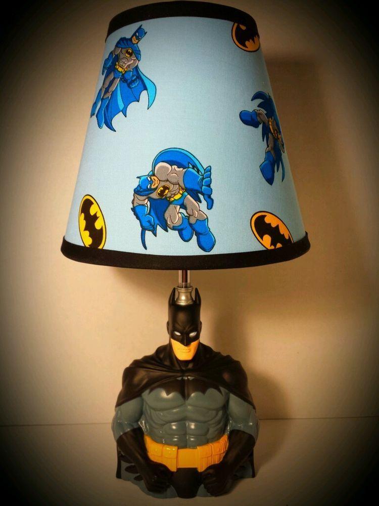 Lovely DC Comics Batman Lamp U0026 Lampshade! The Dark Knight On Ebay $99