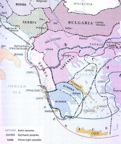 The Despotate of Epirus c 1250 Southern Europe Pinterest History - best of world history maps thomas lessman