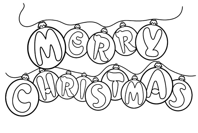 merry christmas colouring in stencil