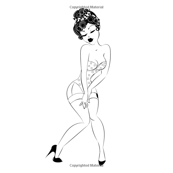 Amazon The Sexy Women And Pinup Girls Coloring Book For Adults Adult With Erotic Illustrated Drawings Of Beautiful Art Therapy