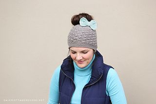 85 Free Crochet Patterns for Messy Bun Hat to Make Your Winter Colourful #messybunhat