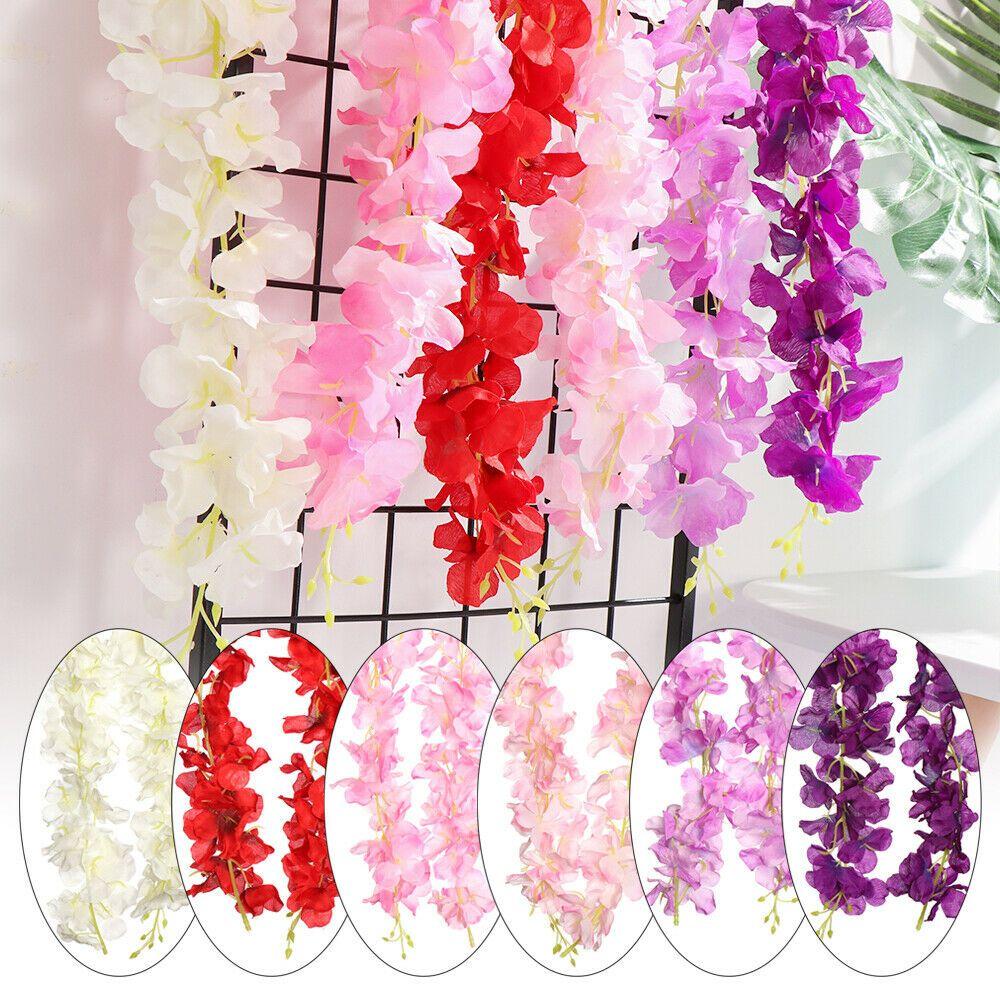 1 Bunches of Simulation Violet Flower Bracketplant Garland Hanging Decor Crafts