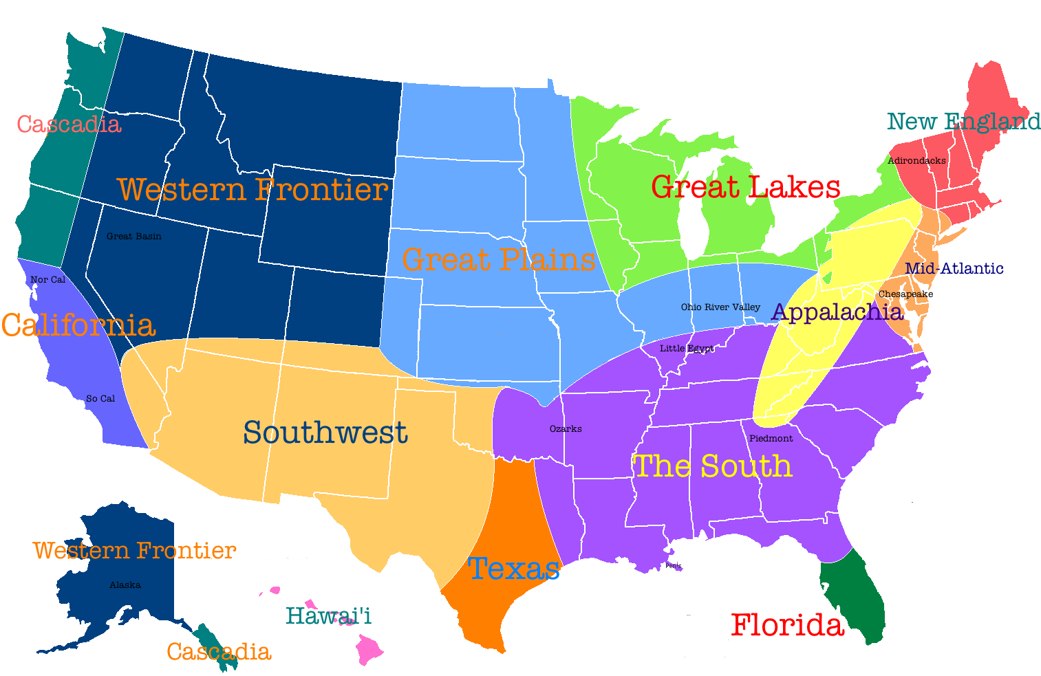 Cultural Maps Of The United States