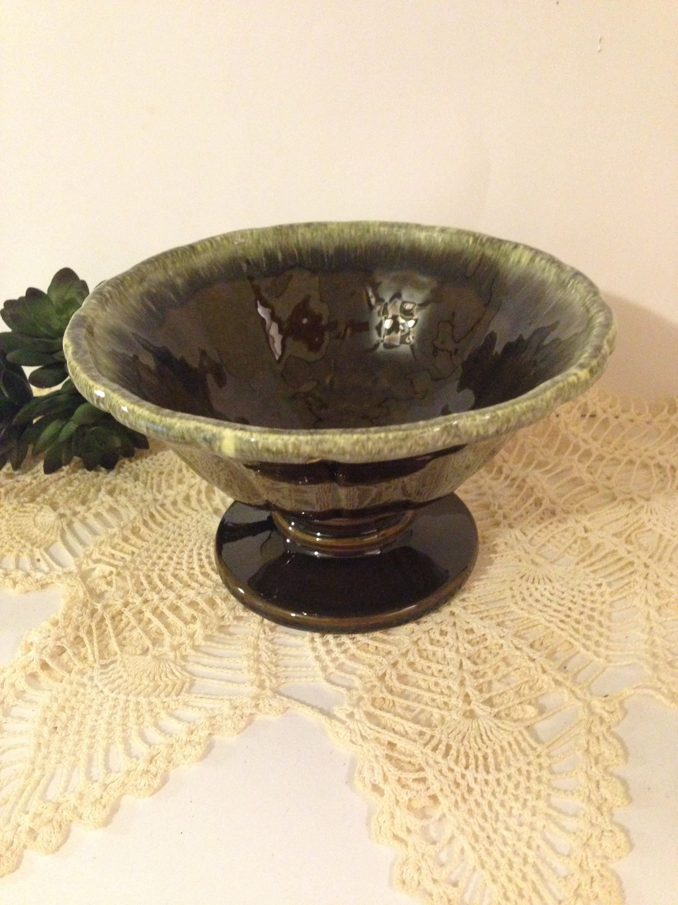 Vintage hull usa pottery pedestal bowl compote planter vase vintage hull usa pottery pedestal bowl compote planter vase usa f95 reviewsmspy