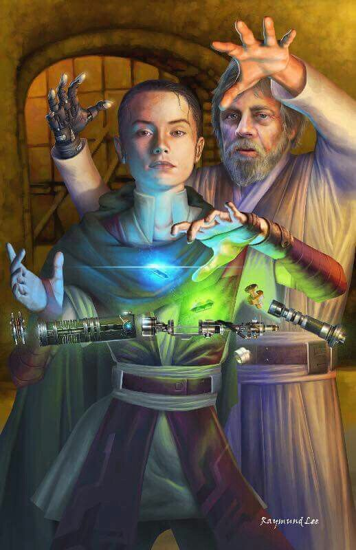 Rey & luke skywalker