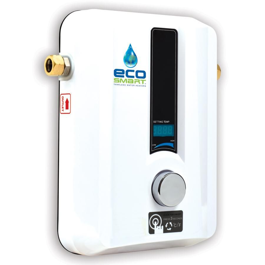 Ecosmart Eco 11 Electric Tankless Water Heater 13kw At 240 Volts With Patented Self Modulatin Hot Water Heater Electric Water Heater Tankless Hot Water Heater