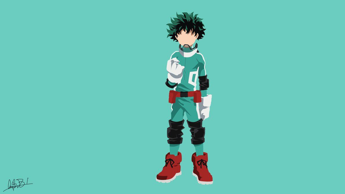 Midoriya Izuku Boku No Hero Academia Minimalist By Nuralifsidoel My Hero Academia Anime My Hero Academia Manga