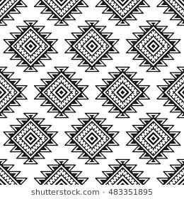 2bc0e3e8d2851 Ethnic seamless monochrome pattern. Aztec geometric background. Tribal print.  Navajo fabric. Modern abstract wallpaper. Vector illustration.