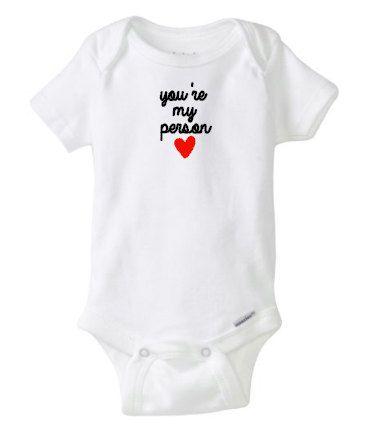 baby boy onesie, you\'re my person, baby boy, baby girl, grey\'s ...