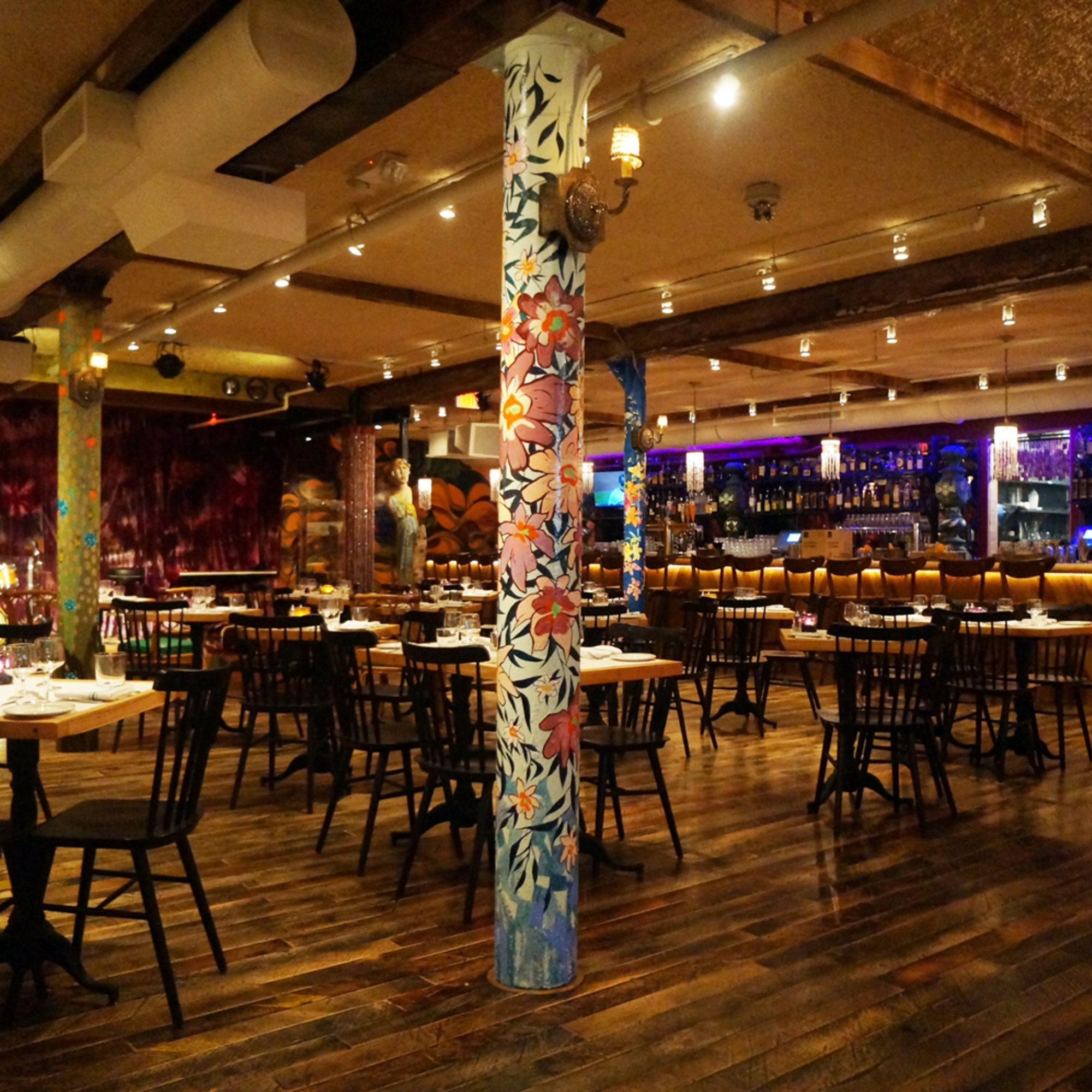 Inspired By The Hippie And Beat Movements Of The 60s And Named For A Run Down Hotel In Paris Latin Quarter Boston Restaurants Cool Restaurant Cool Bars