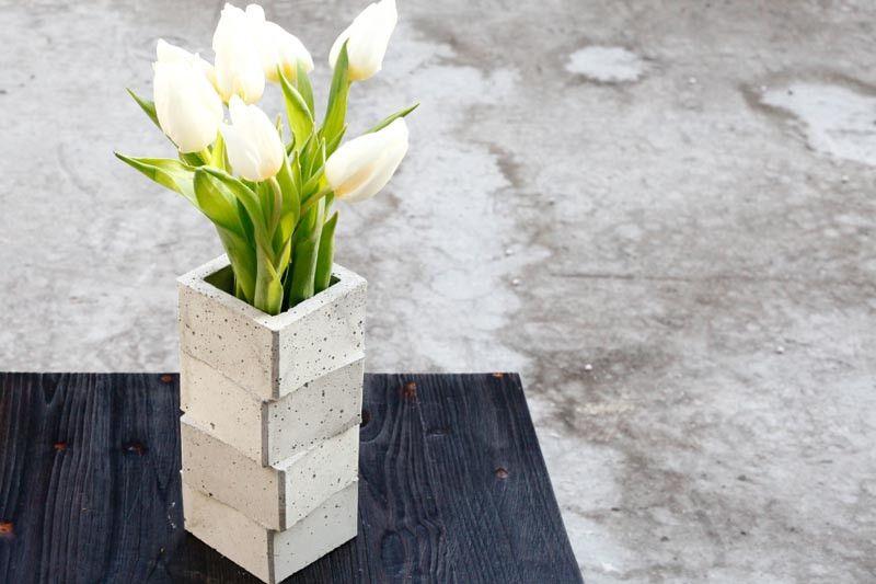 Vasen - gestapelt - betonVASE - ein Designerstück von betonIDEE bei DaWanda