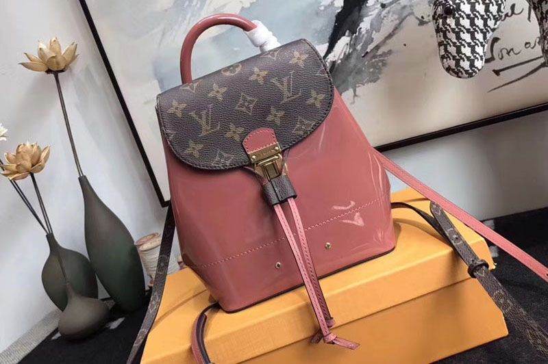 45effff043aa Louis Vuitton M53545 Hot Springs Backpack Patent Leather Pink