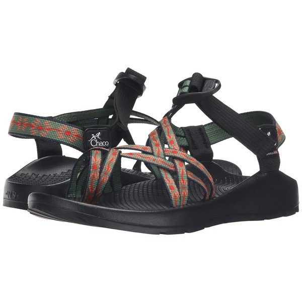 Chaco ZX2 Colorado (Ruby Mint) Women's Shoes ($125) ❤ liked on Polyvore featuring shoes, sandals, lightweight shoes, wrap around shoes, buckle shoes, platform sandals and wrap shoes