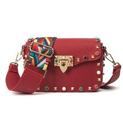 Fashion Color Rivet Design Shoulder Bags