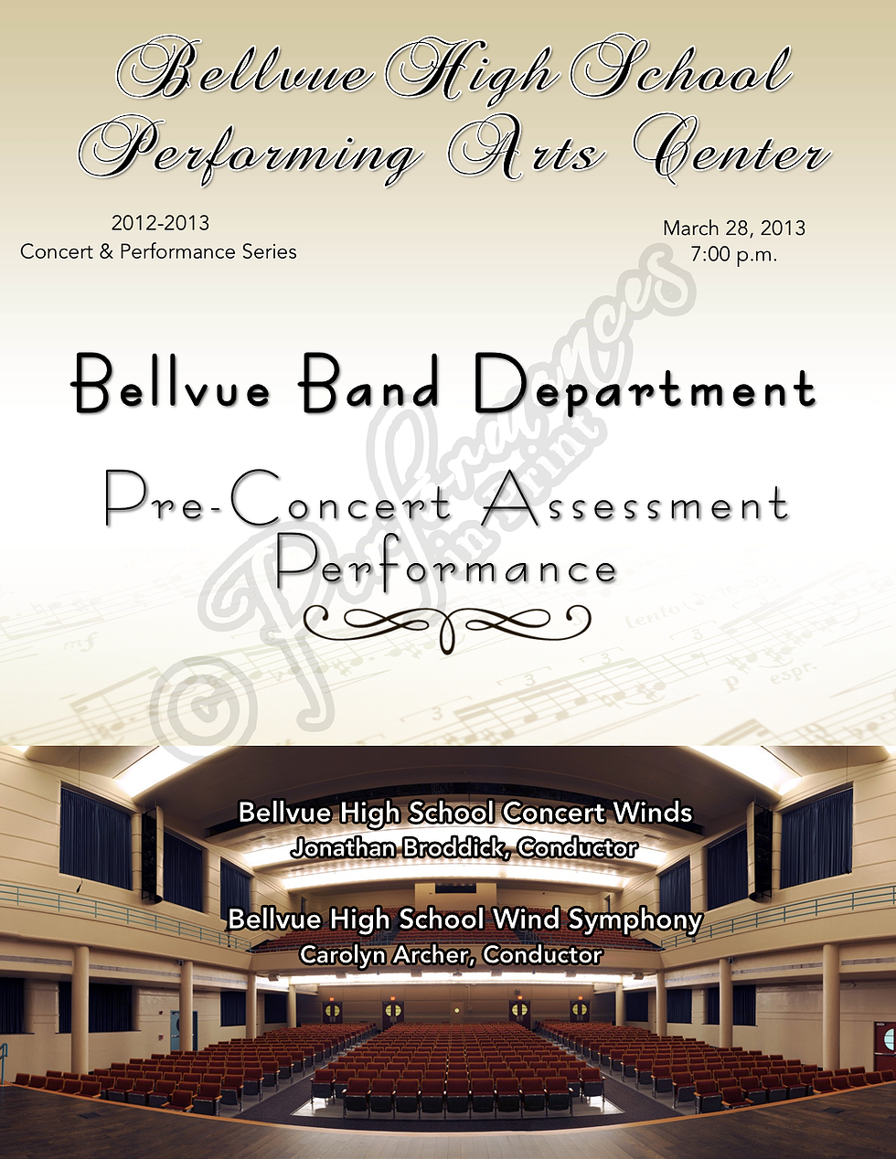 Band Concert Program High School Music  Concert Programs