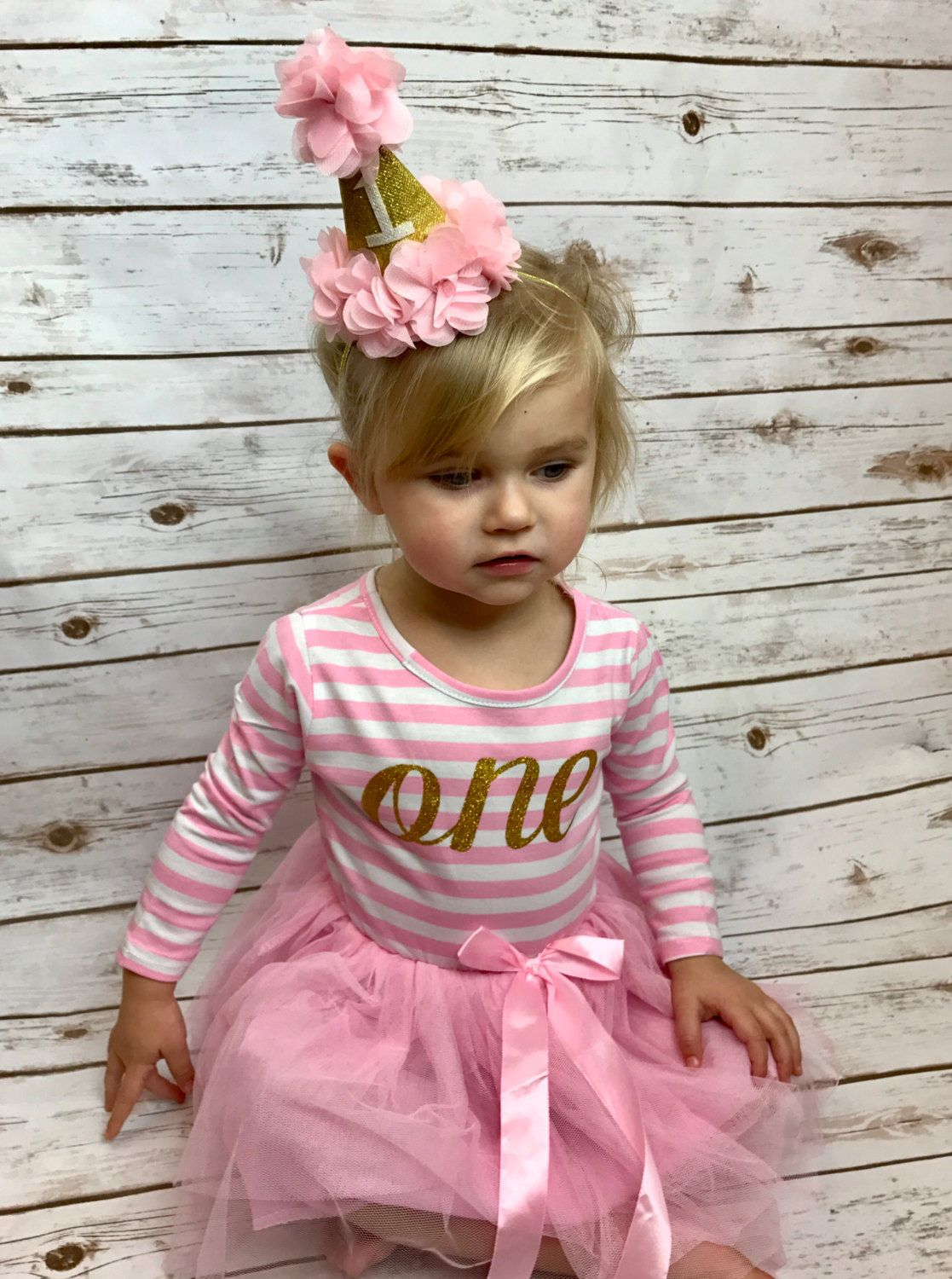 This Adorable First Birthday Dress And Matching Hat Are Perfect For Your Big One Year Old Our Hats Pair Perfectly To Give An