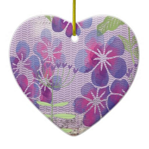 "Purple Watercolor Flowers Custom Heart Keepsake--**EXPLORE an Amazing Collection of  ""Theme Matching Wedding Invitation Sets"" by Visiting... http://www.zazzle.com/weddinginvitationkit"