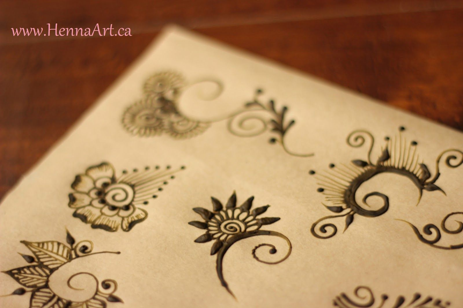 Mehndi For Practice : Use old mehndi cones to practice henna designs on paper