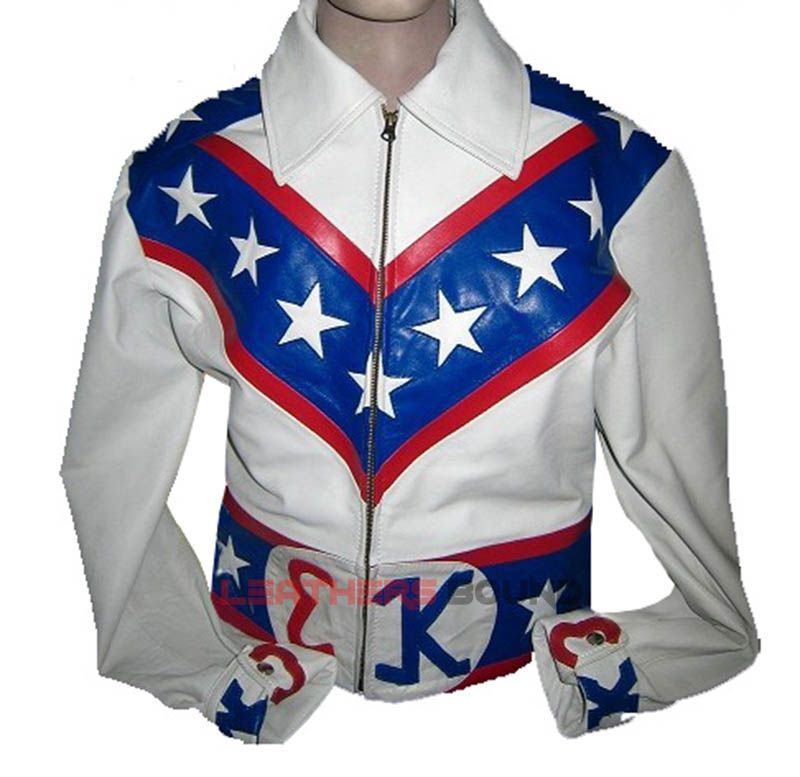 2e56db605 Evel Knievel Motorcycle Costume White Leather Jacket | Bikers ...