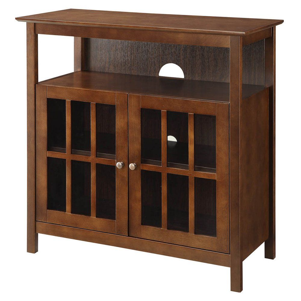 Convenience Concepts Big Sur Highboy TV Stand   Espresso   The Strong,  Stately Convenience Concepts
