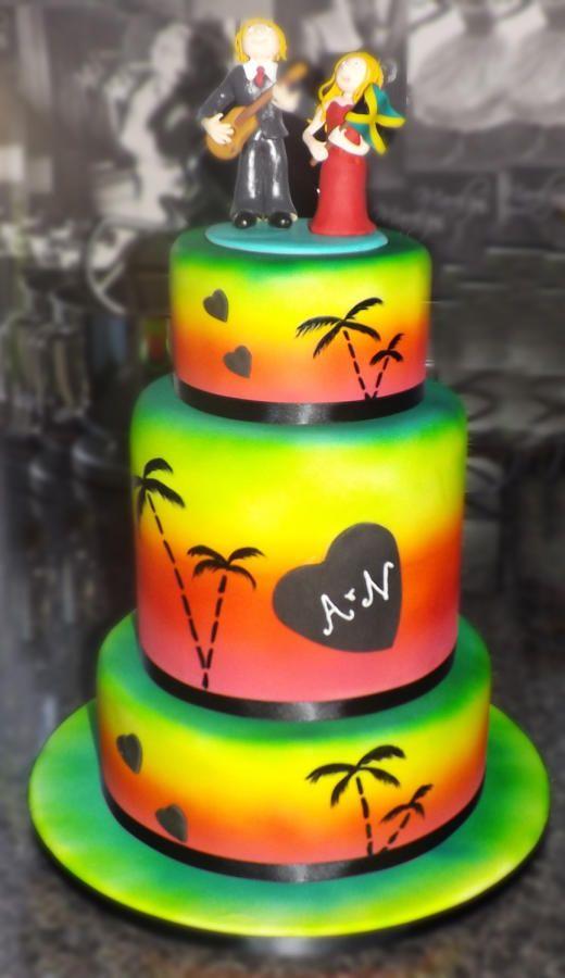 Jamaican Wedding Cake Cake by TheNiceSliceBakery wedding cake