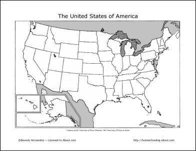 Fill In The States Map