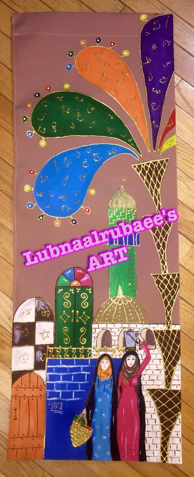 رسم على القماش شناشيل بغداديه Lubnaalrubaee Sart Iraqi Artist Leather Art Islamic Art Harry Potter Art