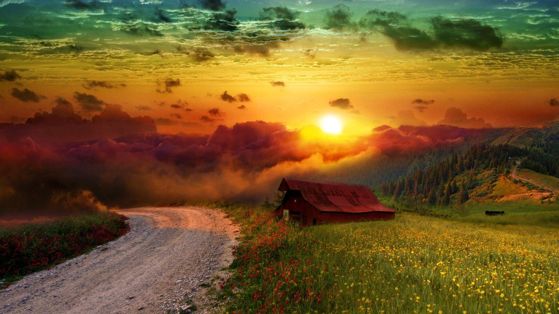 Peaceful Landscape Beautiful Nature Landscape Wallpaper