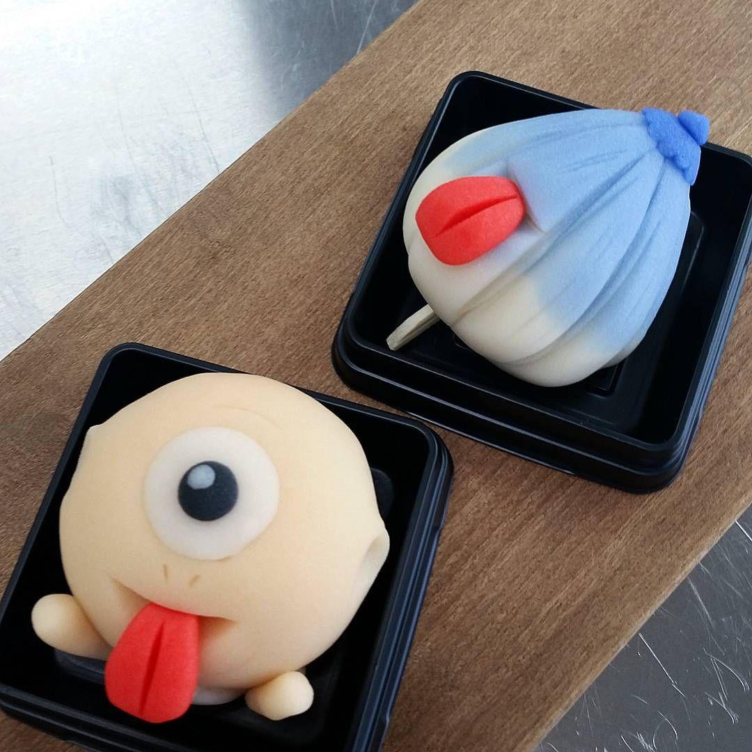 """Bakemono tea sweets""""テレビで心霊番組やってますね! 見ちゃいますよね~  #和菓子#wagashi #japanesesweets #練りきり#妖怪#お化け#夏#ひとつめこぞう #からかさお化け #青森市"""""""