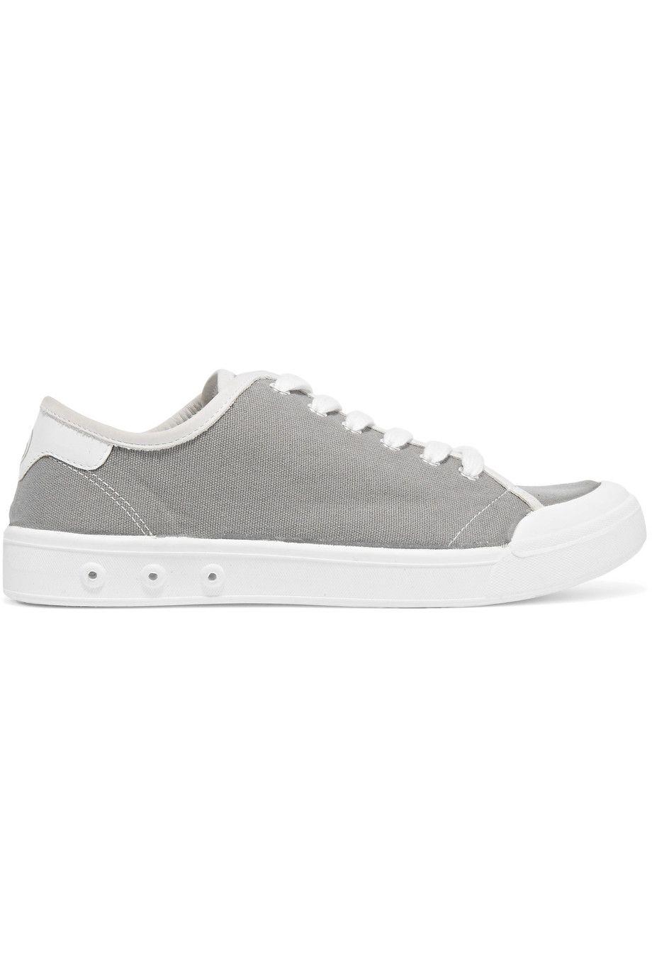 Rag & Bone Woman Standard Issue Leather-trimmed Canvas High-top Sneakers White Size 37.5 Rag & Bone ISQZOzwm1o