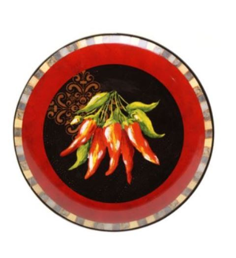 Chili Pepper Round Serving Dish 22 Serving Dishes Plates