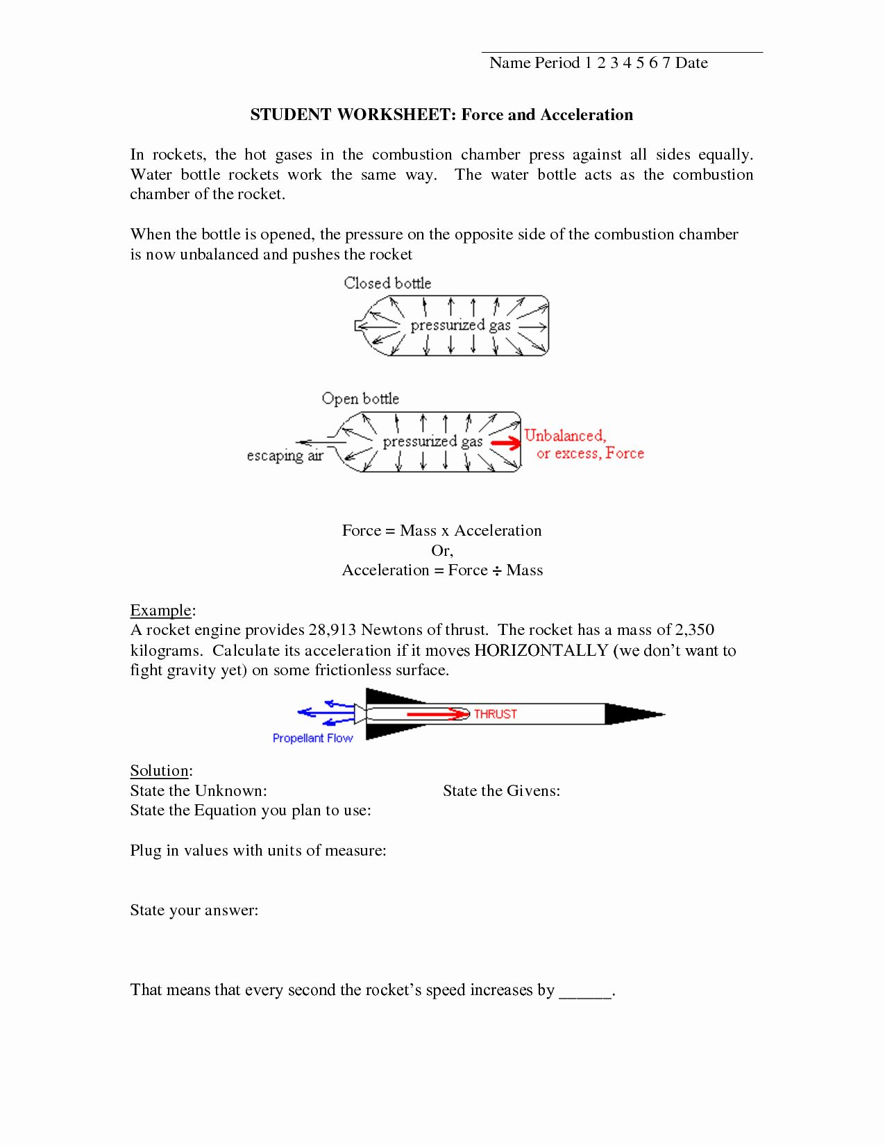 50 Velocity And Acceleration Worksheet In