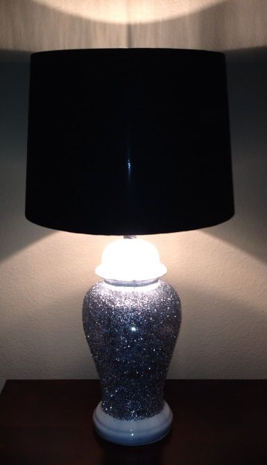 DIY glitter lamp makeover!